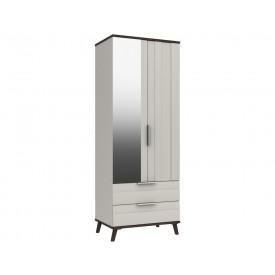 Derby Combi Wardrobe Grey White Truffle Oak With Mirror