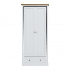 Dawlish White 2 Door Wardrobe