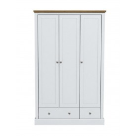 Dawlish White 3 Door Wardrobe
