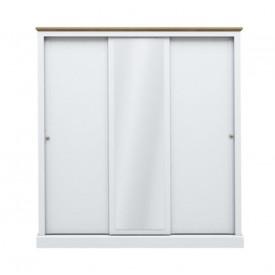 Dawlish White 3 Sliding Door Wardrobe