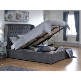 Dakar Pewter Ottoman Bed Frame