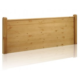 Duke Rustic Waxed Pine Double Headboard
