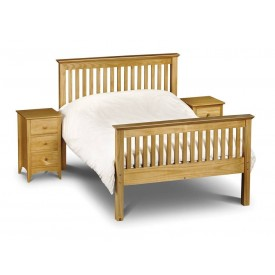 Barcelona Pine High Foot End Kingsize Bed Frame