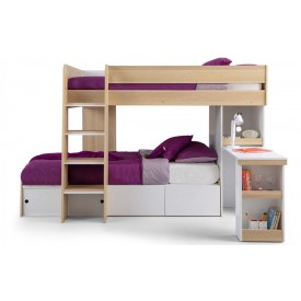 Eternal Oak and White Bunk Bed