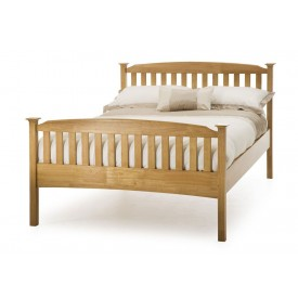 Helena Honey Oak High Foot Double Bed Frame