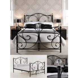 Florentine Black/Krystal Double Bed Frame