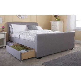 Hannah Grey 4 Drawer Bed Frame