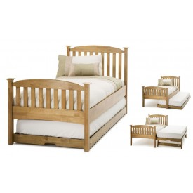 Helena High End Honey Oak Guest Bed Frame