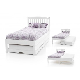 Helena Low End Opal White Guest Bed Frame
