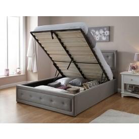 Holly Hopsack Storage Bed Frame