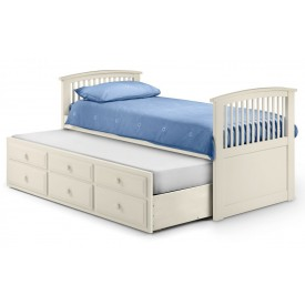 Hubble White Sleepover Captains Bed