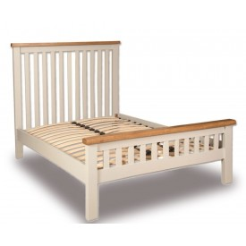 Melrose French Ivory And Oak Bed Frame