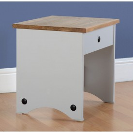Corona Grey Dressing Table Stool