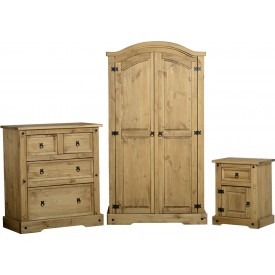 Corona Pine Bedroom Set Trio Special Offer