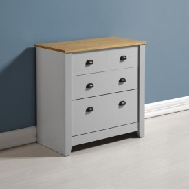 London Bedroom Furniture 2+2 Drawer Chest