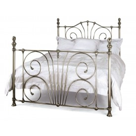 Jessica Nickel Super Kingsize Bed Frame