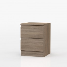 Avenue Truffle Oak 2 Drawer Bedside