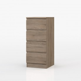 Avenue Truffle Oak Bedroom 4 Drawer Tallboy