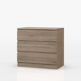 Avenue Truffle Oak Bedroom 3 Drawer Chest