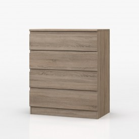Avenue Truffle Oak Bedroom 4 Drawer Chest