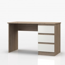 Avenue Truffle Oak And White Gloss Dressing Table