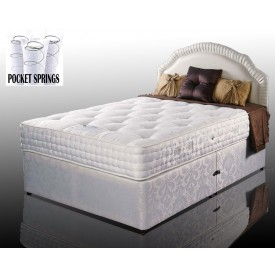 Kozee Rose Luxury Pocket 1000 Three Quarter 2 Drawer Divan Bed