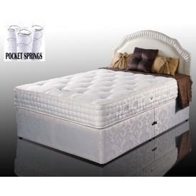 Kozee Rose Luxury Pocket 1000 Double 2 Drawer Divan Bed