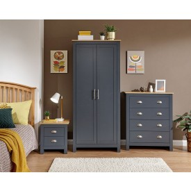 Lancashire Slate Grey Bedroom Furniture