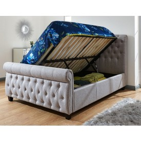Lucia Grey Ottoman Bed Frame
