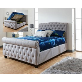 Lucy Grey Ottoman Bed Frame