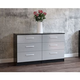 Links High Gloss Grey 6 Drawer Chest