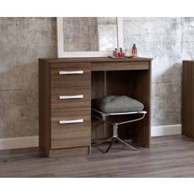 Links Walnut 3 Drawer Dressing Table