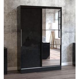 Links High Gloss Black Sliding Door Robe
