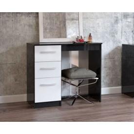 Links Black/High Gloss White Dressing Table