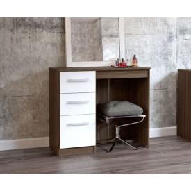 Links Walnut And High Gloss White Bedroom Set