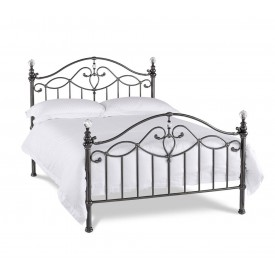 Bentley Designs Alana Black Nickel Bed Frame