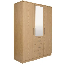 Manhattan 3 Door 3 Drawer Robe