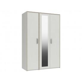 Marston White 3 Door Wardrobe With Mirror