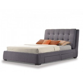 May Grey Storage Bed Frame