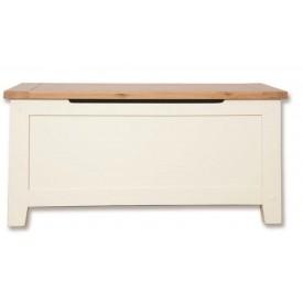 Melrose Ivory Blanket Box