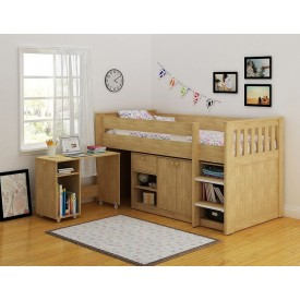 Merlin Oak Cabin Bed Work Station