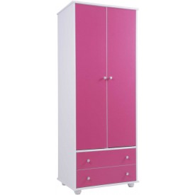 Miami Pink 2 Door 2 Drawer Robe