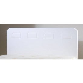 Miami White Small Single Headboard