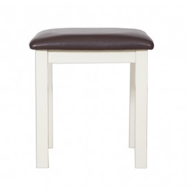 Melrose Ivory Dressing Stool