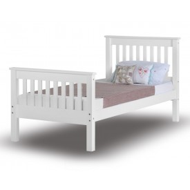 Monty White High Foot Single Bed Frame