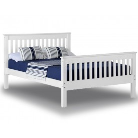 Monty White High Foot Kingsize Bed Frame
