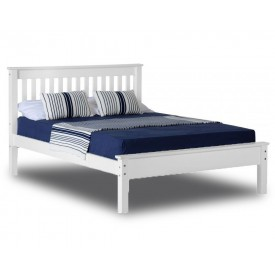 Monty White Low Foot Double Bed Frame