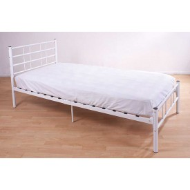 Morgan White Single Bed Frame