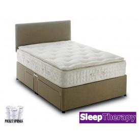 Natural Sleep Pillow Pocket 2000 Super Kingsize Divan Bed