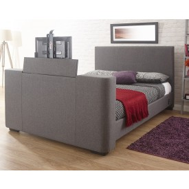New York Grey TV Bed Frame